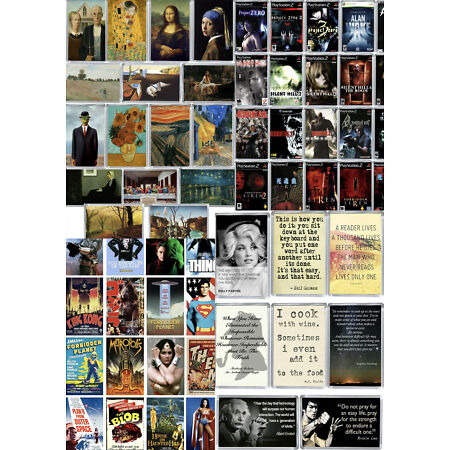 img-3 for 2 Fridge Magnets Large Selection, Quotes, Movies, Fine Art, TV Series
