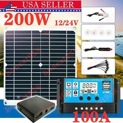 Kyпить 200W Solar Panel Kit 100A 12V battery Charger with Controller Caravan Boat USA # на еВаy.соm