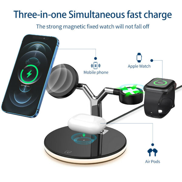 Großbritannien3 in1 Wireless Charger Schnell Lade Dockingstation für iPhone Apple Watch Airpod