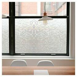 45*200CM Rainbow Privacy Window Glass Film Static Anti UV 3D Frosted Home Decor