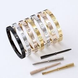 Kyпить 18k Gold Plated Stainless Steel Love Bracelet With Screwdriver & CZ Sizes 16-21 на еВаy.соm