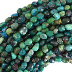 Kyпить 6mm - 8mm natural blue brown green chrysocolla pebble nugget beads 15.5