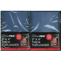 Kyпить 50 Ultra Pro 100pt Thick Toploaders Jersey Cards 2 Packs of 25 NEW Top Loader на еВаy.соm