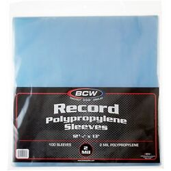 Kyпить 100 BCW Record Sleeves Plastic Outer 33 RPM LP Covers Album Holders Protection на еВаy.соm