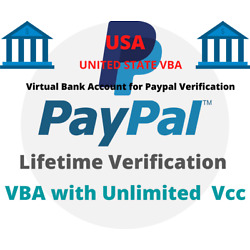 Kyпить US VBA For Paypal Verification (Virtual Bank Accounts) Un-limited Vcc 100% Legal на еВаy.соm