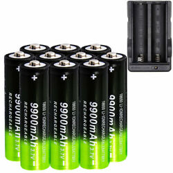 Kyпить 10PCS Li-ion 3.7v Rechargeable Batteries + USA Battery Charger 9900mAh Powerful на еВаy.соm