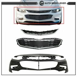 Kyпить For Chevy Malibu 2016 2017 18 Front Bumper Cover & Front Upper And Lower Grille на еВаy.соm