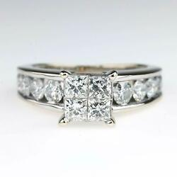 Kyпить Diamond Quad Cluster 2.10ctw Engagement Ring with Side Accents in 14K White Gold на еВаy.соm