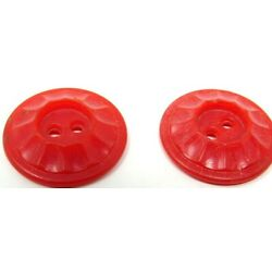 Kyпить 2 Red Buttons Plastic 2 Holes 7/8