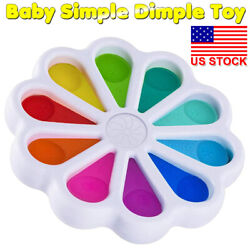 Kyпить Baby Simple Dimple Fidget Toy Silicone Flipping Board Kids Early Sensory Toys US на еВаy.соm