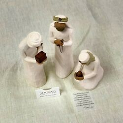 Kyпить Willow Tree Three Wisemen_sculpted hand-painted nativity figures_26027 на еВаy.соm