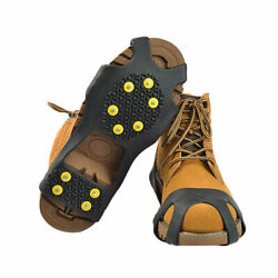 Cleats Anti-Slip Boot Shoes Covers Studded Traction Spike Crampons Snow Ice