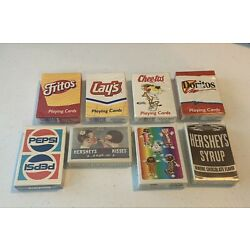 Kyпить Lot Of 8 Vintage Playing Cards, Hershey, Pepsi, Frito-Lay - All Factory Sealed на еВаy.соm