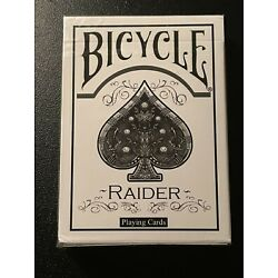 Kyпить Bicycle Raider Deck, WHITE. New and Sealed *dent sale* на еВаy.соm