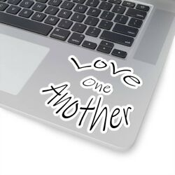 Kiss-Cut Stickers ''Love One Another''