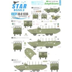 Star Decals 1/35 DUKW & FORD GPA AMPHIBIANS in NORMANDY & FRANCE 1944