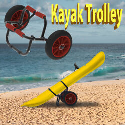Kyпить Kayak Canoe Boat Carrier Dolly Trailer Tote Trolley Transport Cart Wheel на еВаy.соm