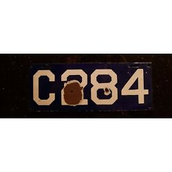 Kyпить 1913 CONNECTICUT CT Porcelain License Plate Car Auto Tag Registration  на еВаy.соm