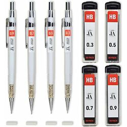 Each Mechanical Pencil Erasers Thicknesses 30 Lead Refills Drawing Office Produc