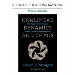 Student Solutions Manual for Nonlinear Dynamics and Chaos, 2nd Edition: New