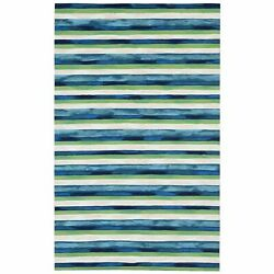Kyпить Liora Manne Visions II Painted Stripes Indoor Outdoor Area Rug Cool на еВаy.соm