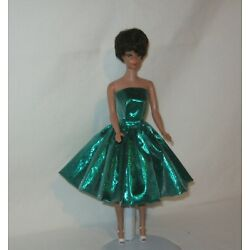 Kyпить Handmade SHORT Vintage Look Green Metallic Lame Dress FOR Dolls на еВаy.соm