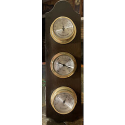 Kyпить Vintage Taylor Weather Station Barometer Thermometer Humidity Wood Working на еВаy.соm