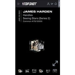 JAMES HARDEN NFT NBA TOP SHOT - SEEING STARS LE - LOW SERIAL #178/10000