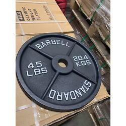 Kyпить Sale!! New 45LB PAIR (Total 90LB) Machined Olympic Weight Plates на еВаy.соm