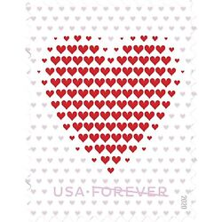 Kyпить 100 Made of Hearts Forever First Class Postage Stamps 5 Sheets of 20 2020 USPS на еВаy.соm