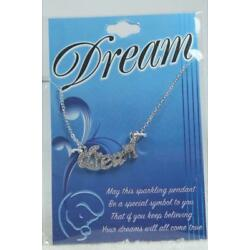 'Dream' By DMM Childs Necklace Silvertone #JFY-NEK NEW In Package