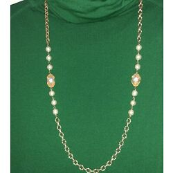 Kyпить Sign Miriam Haskell Baroque Pearls with GoldTone Chain Necklace Vintage and Rare на еВаy.соm