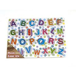 ABC Real Wood Colorful Puzzle Kids Education Learning Play Set