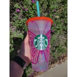 Pink to Purple Butterfly Vinyl Decal for 24 oz. Starbucks Venti Cold Cup