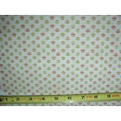 Mulberry Lane Mini Floral  Calico Cream Sue Beevers 1 YD COTTON FABRIC Northcott