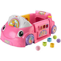 FISHER PRICE LAUGH AND LEARN CRAWL AROUND CAR, PINK *DM