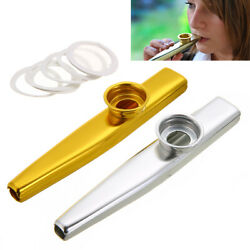Metal Kazoo Harmonica Mouth Flute Musical Instrument Kid Party Gifts US