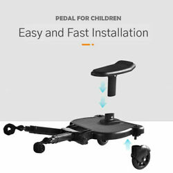 Baby Infant Stroller Pushchair Buggy Step Board with Universal Adapter Black Us