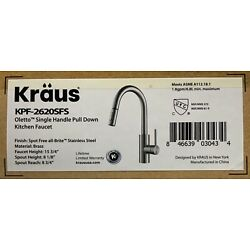 Kraus KPF-2620SFS Single Handle Oletto Kitchen Faucet, 16 Inch (Stainless Steel)
