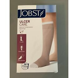 NEW JOBST Beige Medium Ulcer Care Medical Compression Stockings
