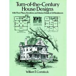 Dover Architecture Turn-of-the-Century House Design w/Floor Plans, Elevations