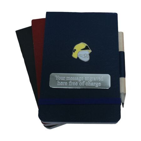 img-Fireman's Hat Notebooks set of 3 Police Books FREE ENGRAVING 128