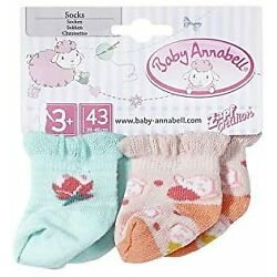 Zapf Baby Annabell Socks 2 pairs Assorted Designs for 43cm Dolls