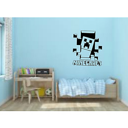 Kids Large Minecraft 3D effect Wall Sticker Decals Removable, Durable, Kids Bedr