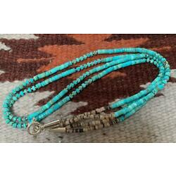 Gorgeous multi-strands turquoise heishi necklace/23