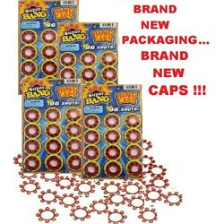 4 HIGH QUALITY SUPER BANG 8 Ring Caps 96/PACK - 384 TOTAL FAST FREE SHIPPING!!
