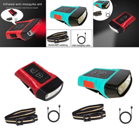 img-LED Headlights Headlamps Flashlight Caps Torch Rechargeable Hiking
