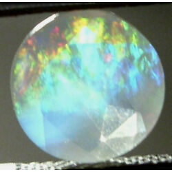 2.18ct Faceted Mexican Precious Conta Luz Fire Opal With Color Play 10mm SPECIAL