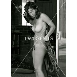 1960s Nude 8X10 Photo Busty Tan Pinup Marsella Brown From Original Negative-MB5
