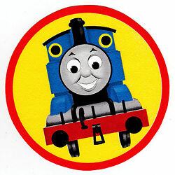 Thomas train wall safe sticker blue circle border cut out 4.5 to 8 inch